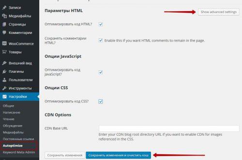 Настройка плагина Autoptimize оптимизация wordpress сайта