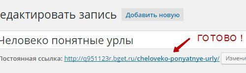 Сделать ЧПУ ссылки сайт wordpress