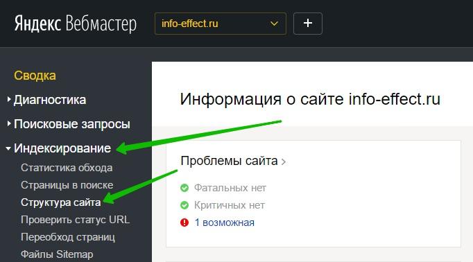 индексирования вебмастер поиск Яндекс