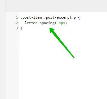 Letter Spacing изменить расстояние между букв CSS WordPress