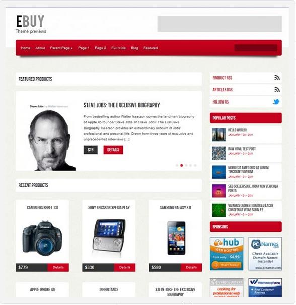 шаблон WordPress Ebuy