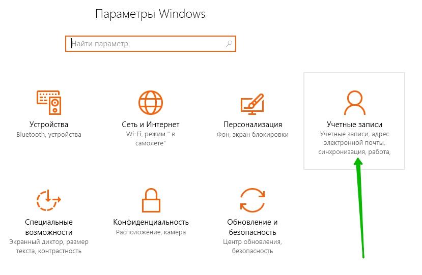 учётные записи windows
