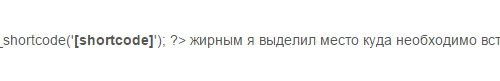 Код для вставки шорткода в header.php или footer.php