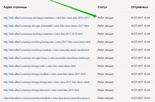 Как быстро проиндексировать сайт страницы в Яндексе