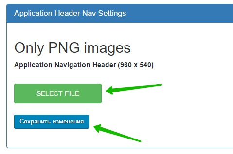Application Navigation Header