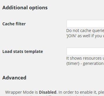 Создать кэш запросов базы данных wordpress