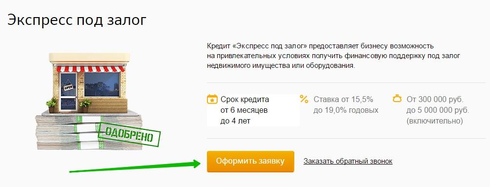 Сбербанк бизнес кредит