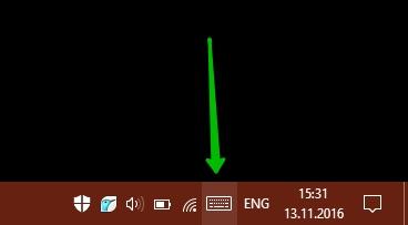 Сенсорная клавиатура на Windows 10 смайлики