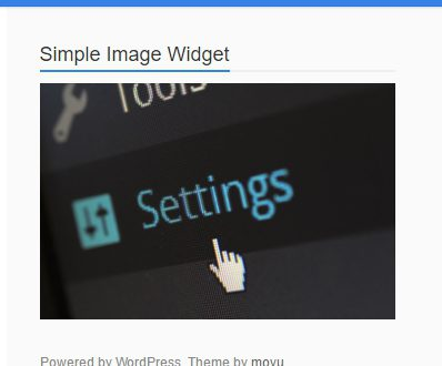 Image Widget фото виджет WordPress
