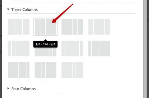 Как сделать колонки на wordpress сайте