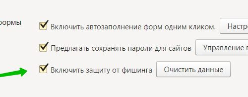 Включить защиту от фишинга в Яндекс 100%