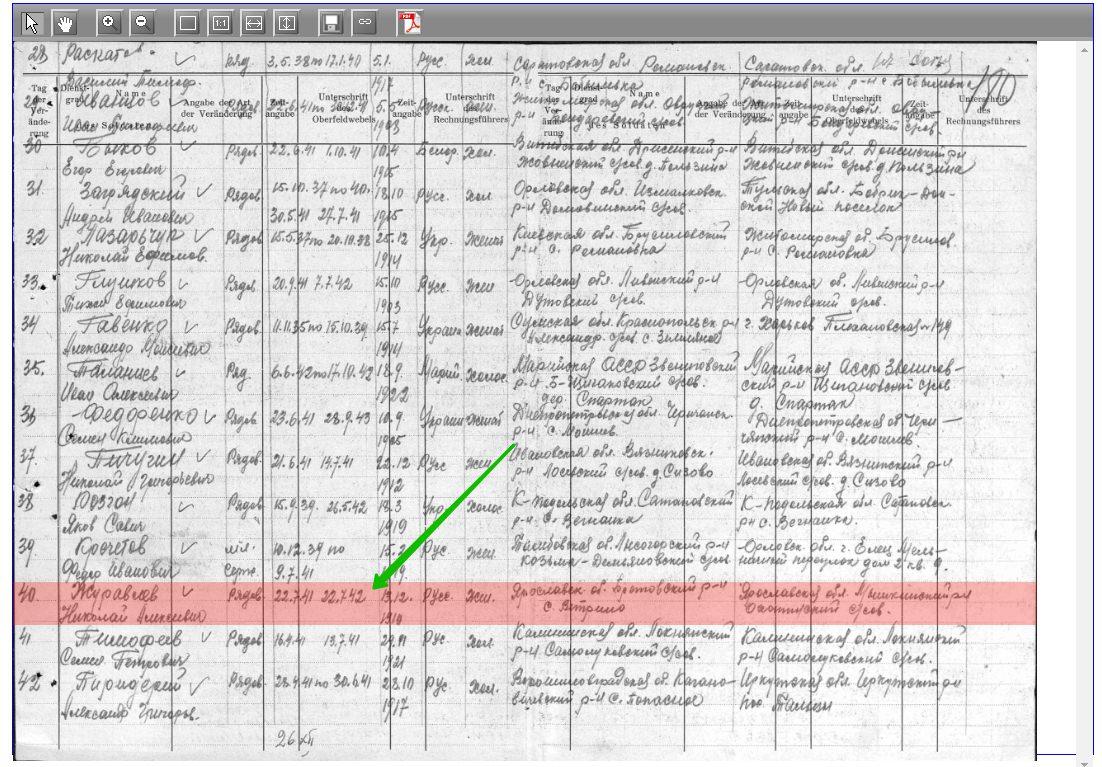 скан документа архив вов