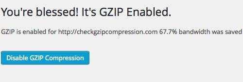 Как сделать GZIP сжатие для wordpress сайта ?