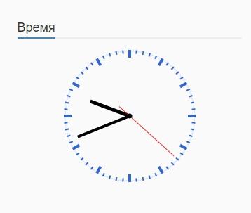 Виджет часы на сайт WordPress