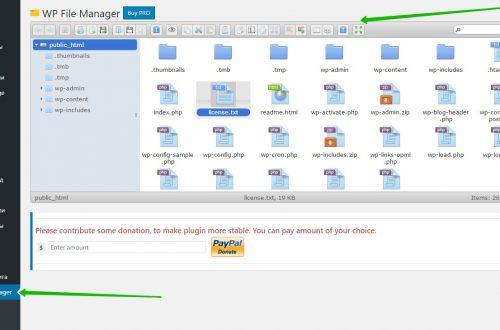 File Manager корневая директория сайта плагин WordPress