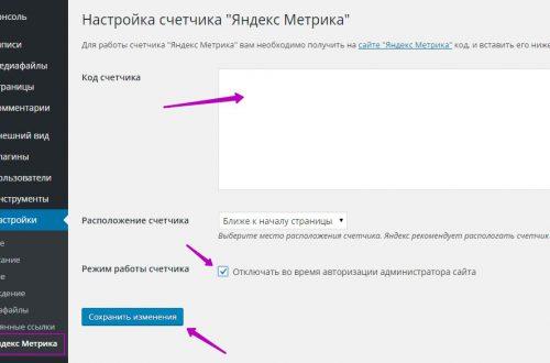 Как просто добавить код Яндекс Метрики на сайт wordpress ?