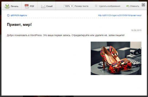 Кнопка напечатать и pdf на сайт wordpress