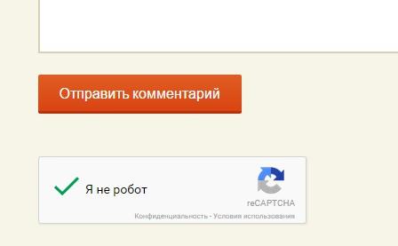 Я не робот защита от спама в комментариях на сайте wordpress