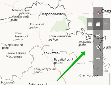 панель навигация карты