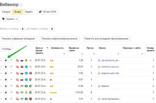 Функция «Вебвизор» Яндекс метрика как пользоваться ?