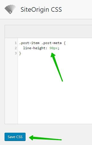 Сохранить CSS WordPress Line Height