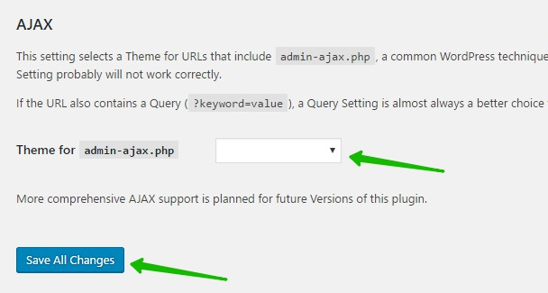 Theme for admin-ajax.php