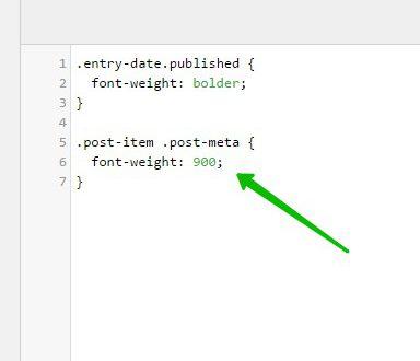 Font Weight толщина шрифта изменить сайт WordPress