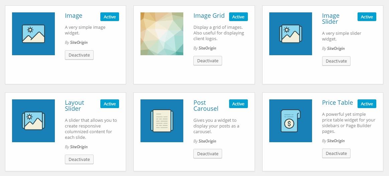 site origin widgets