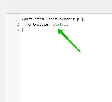 Font Style изменить стиль шрифта сайт WordPress