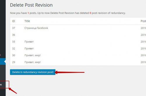 Плагин wordpress для удаления ревизий страниц и записей