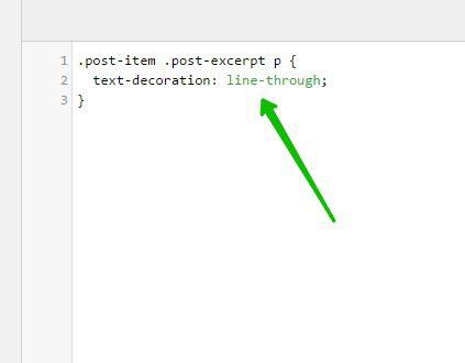 Перечёркнутый подчёркнутый текст CSS изменить сайт WordPress