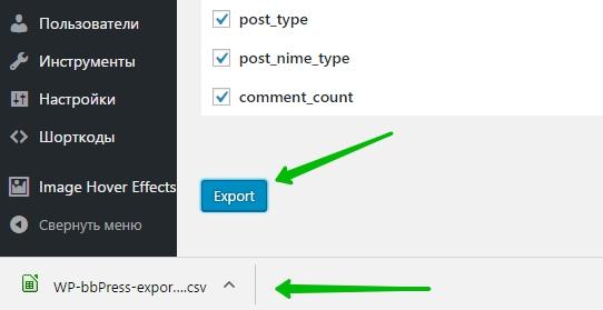 import/export bbPress Forums