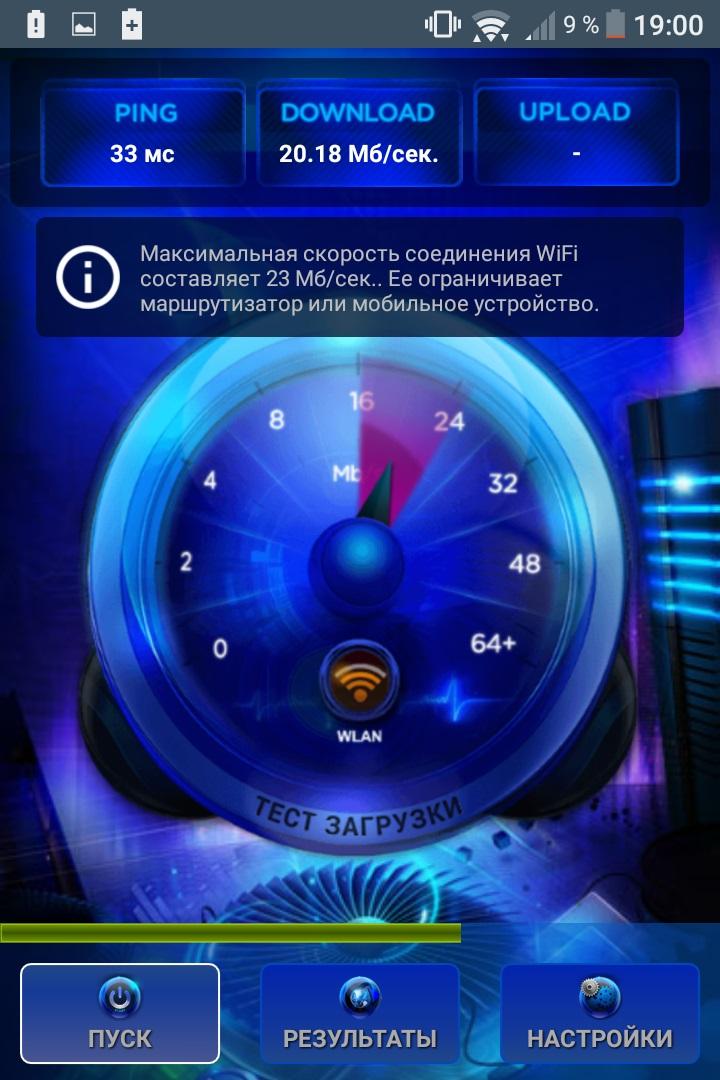 скорость интернета телефон
