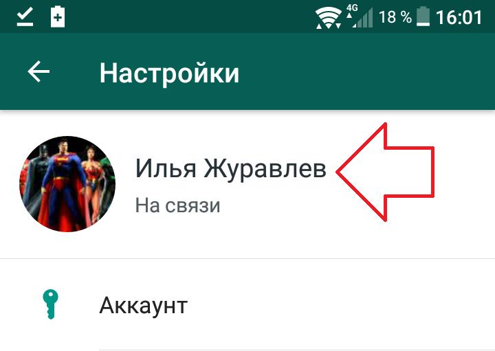 профиль ватсап