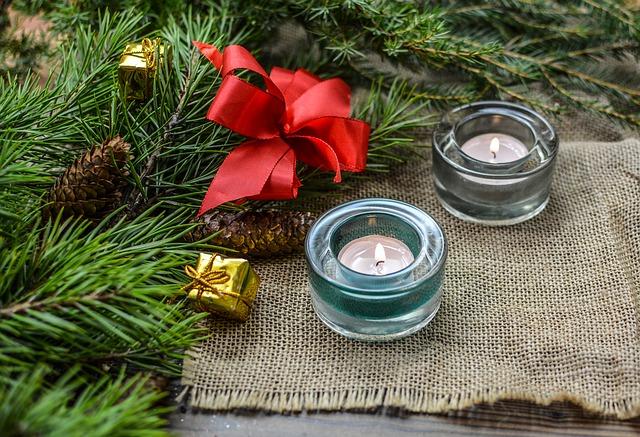 свечи рождество
