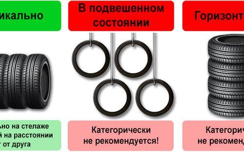 Как правильно сохранять покрышки с дисками и без