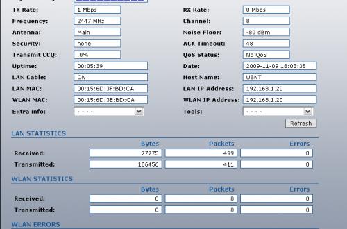 <br><span> <br><span>Обзор веб-интерфейса Ubiquiti Bullet 2 (AirOS)</span> <br></span> <br>