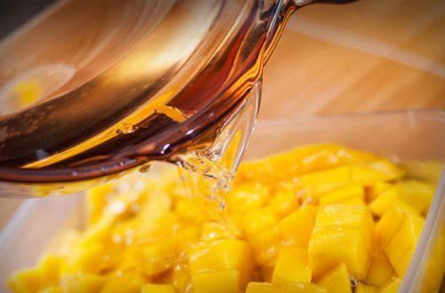 Как заморозить манго