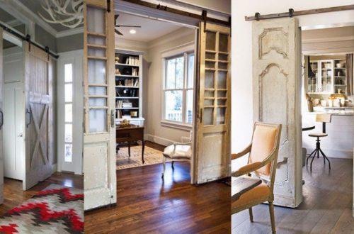 ТОП 10 лайфхаков со старыми дверями: в центре интерьера!