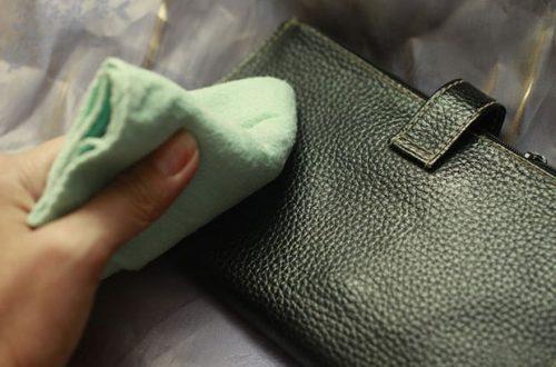 Как очистить кожаный кошелек