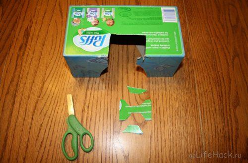 Храним наушники с помощью картона