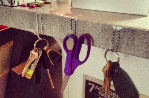 Скрепки в качестве вешалки для ключей