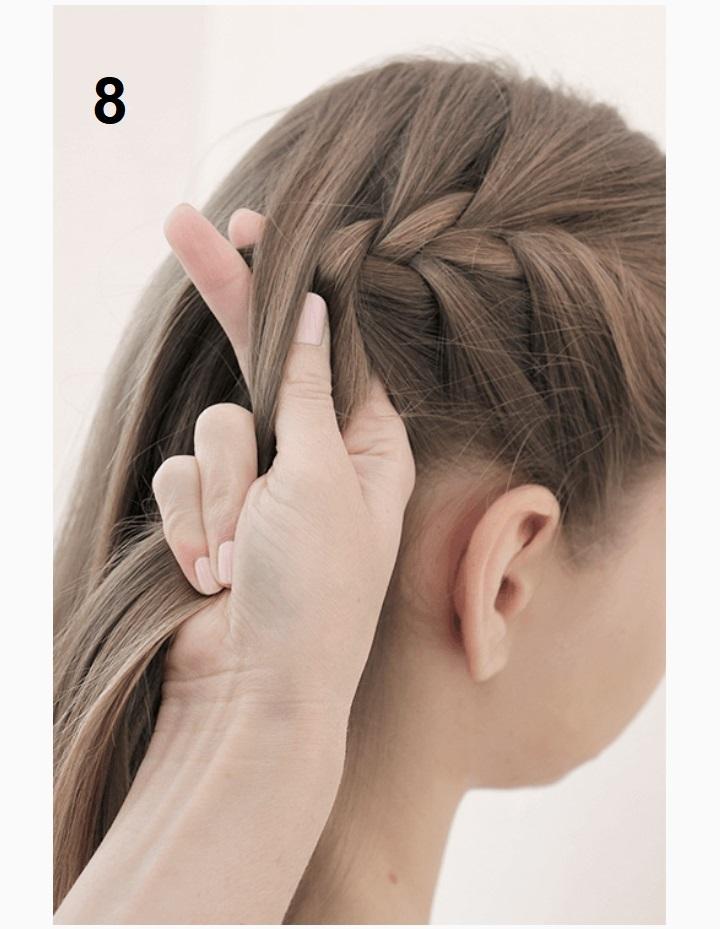 коса на голове фото