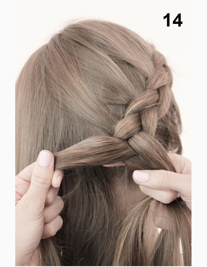 причёска с косой фото