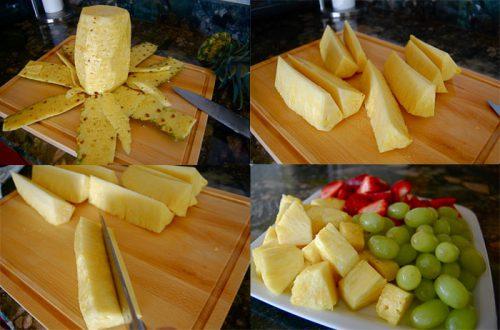 Как быстро нарезать и почистить ананас