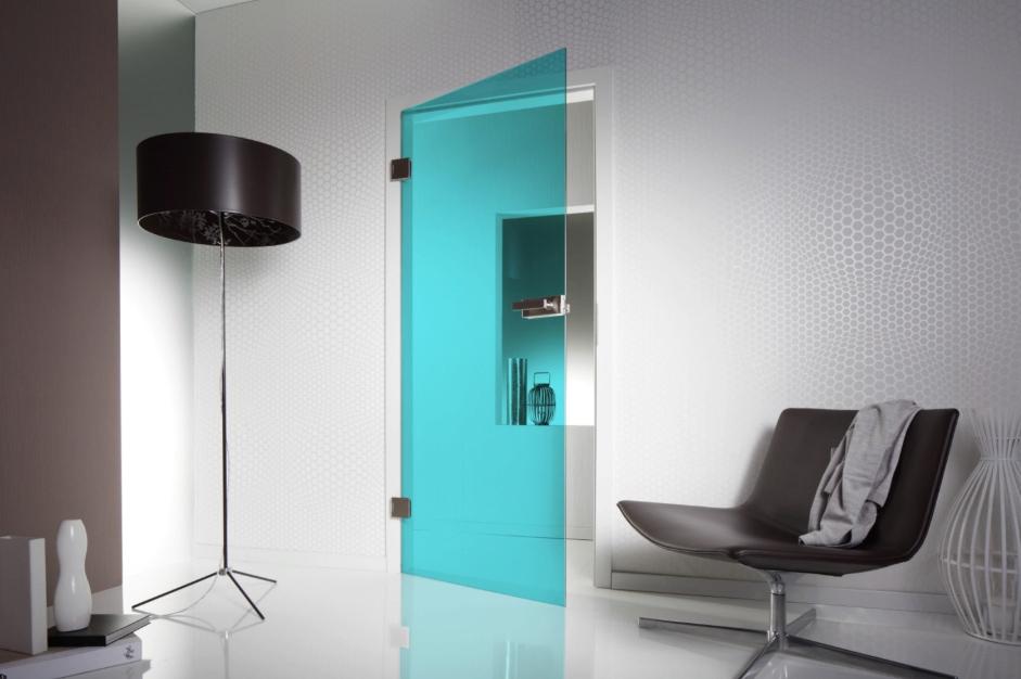 стильная стеклянная дверь