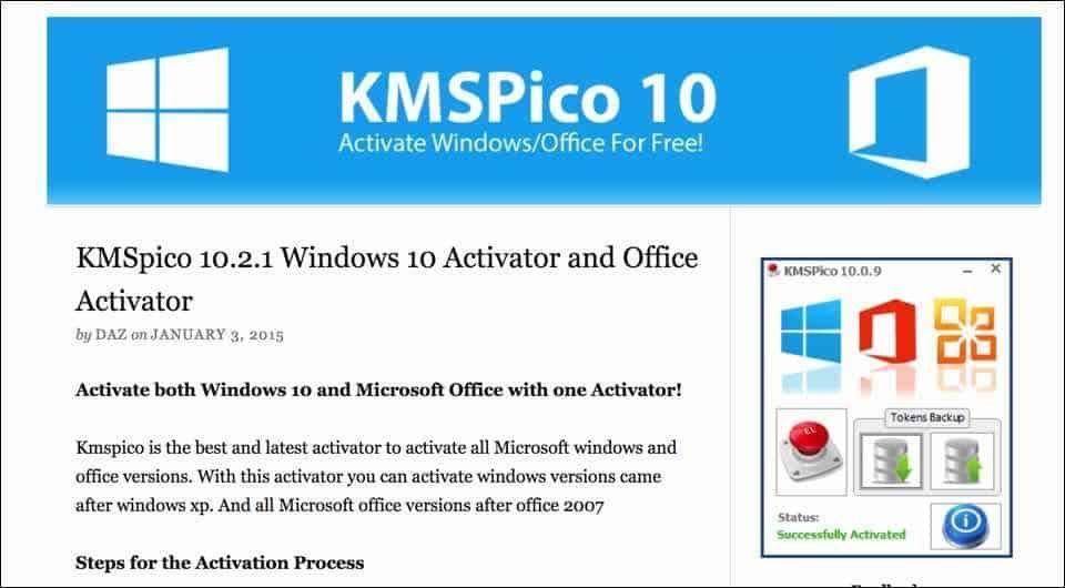 KMSpico Activator: преимущества программы