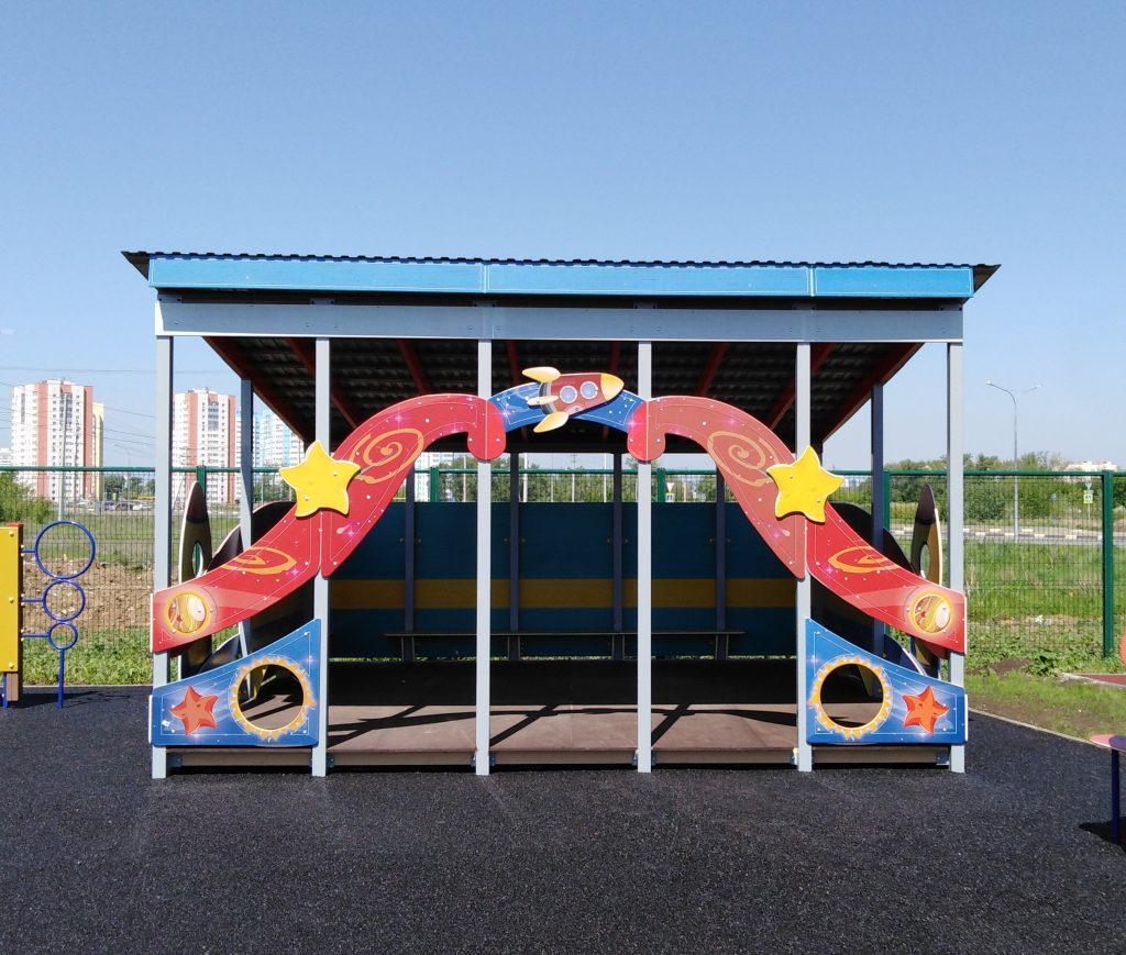 Теневые навесы для детских площадок